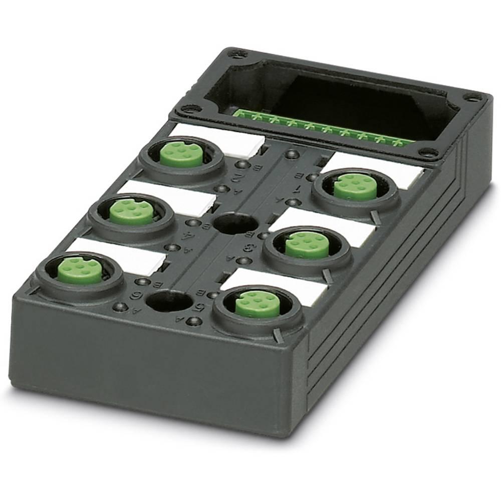 Sensor/aktorbox passiv M12-fordeler med kunststofgevind SACB-6/ 6-L-C GG SCO P 1452880 Phoenix Contact 1 stk