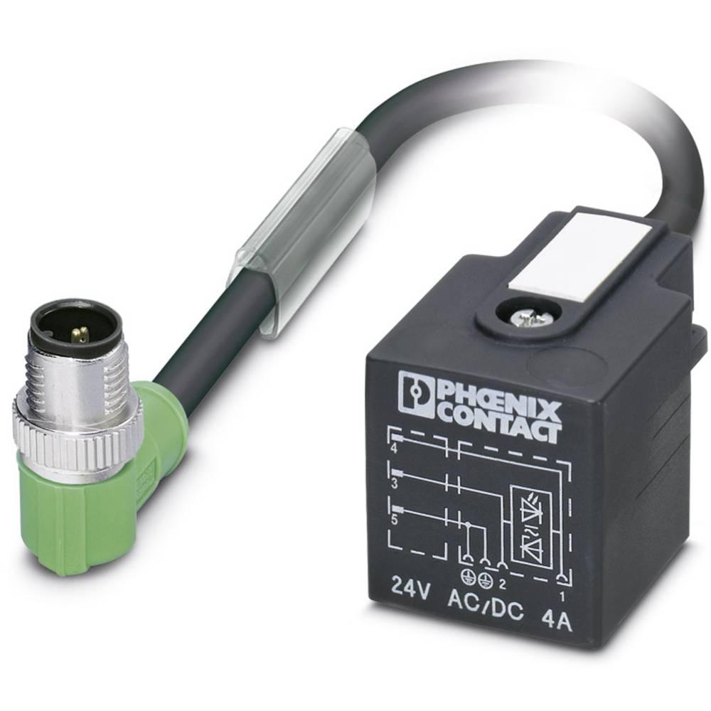 Sensor-, aktuator-stik, M12 Stik, lige, Stik, vinklet 3 m Pol-tal (RJ): 3 Phoenix Contact 1434963 SAC-3P-MR/ 3,0-PUR/A-1L-Z SCO