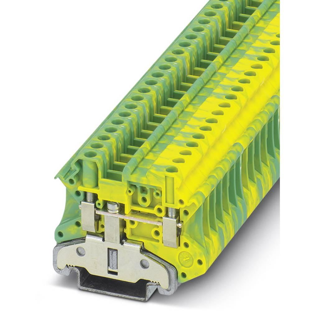 UT 4-MTD-PE / S - gennem terminal Phoenix Contact UT 4-MTD-PE/S Grøn-gul 50 stk