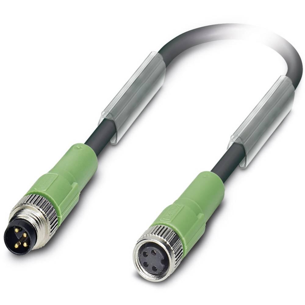 Sensor-, aktuator-stik, M8 Stik, lige, Tilslutning, lige 0.30 m Pol-tal (RJ): 4 Phoenix Contact 1682142 SAC-4P-M 8MS/0,3-PUR/M 8