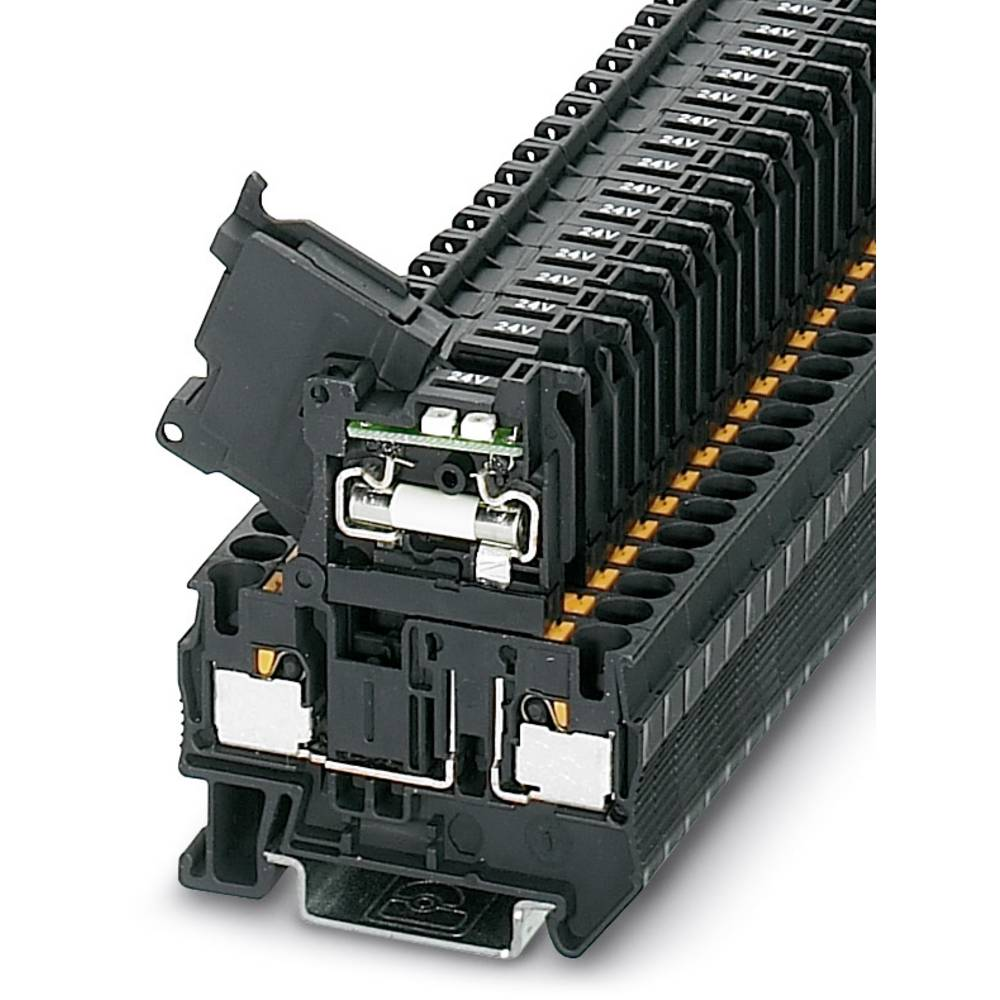 PT 4-HESILED 24 (5X20) - fuse terminal Phoenix Contact PT 4-HESILED 24 (5X20) Sort 50 stk