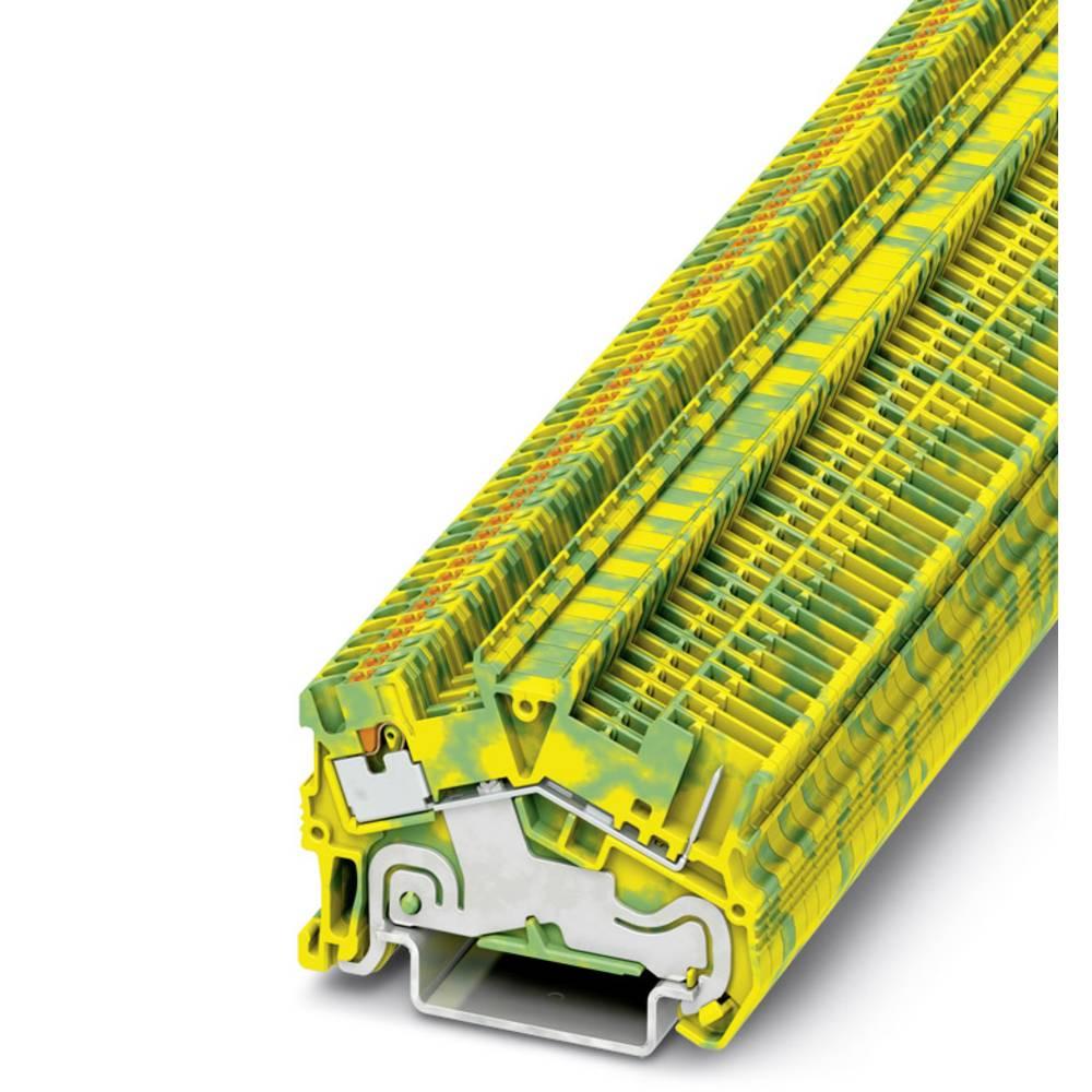 PTS 1.5 / S 1P-PE / - beskyttelsesleder klemrække Phoenix Contact PTS 1,5/S/1P-PE Grøn-gul 50 stk