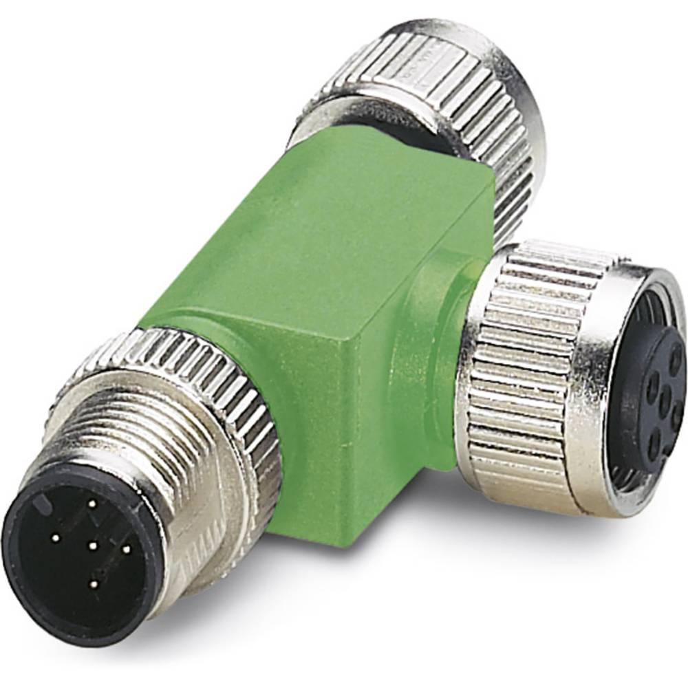 Sensor-/Aktor-Verteiler ARC adapter M12 Adapter, T-form Pol-tal (RJ): 4 Phoenix Contact 1519723 SAC-3P-M12T/2XM12 B PE 1 stk