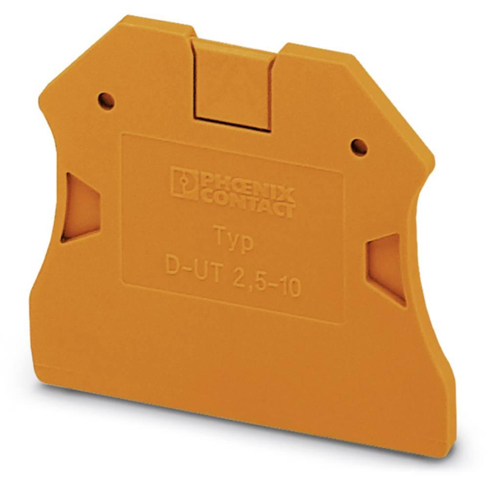 D-UT 2.5 / 10 OG - endedæksel D-UT 2,5/10 OG Phoenix Contact Indhold: 50 stk