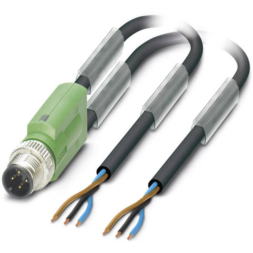 Sensor-, aktuator-stik, M12 Stik, lige 1.50 m Pol-tal (RJ): 3 Phoenix Contact 1524200 SAC-3P-Y/2X 1,5-PUR SCO 1 stk