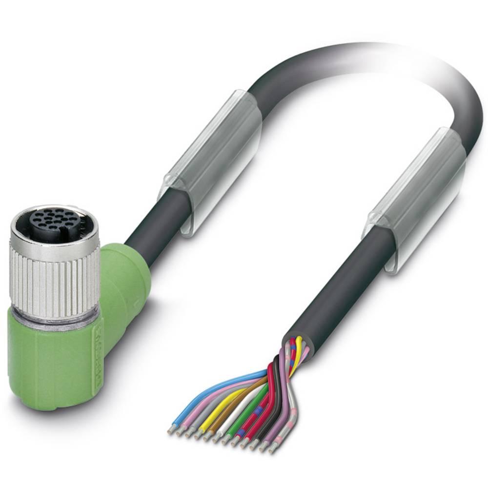 Sensor-, aktuator-stik, M12 Tilslutning, vinklet 10 m Pol-tal (RJ): 12 Phoenix Contact 1430682 SAC-12P-10,0-PUR/FR SCO 1 stk