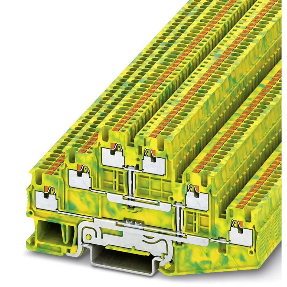 PT 1.5 / S-3PE - beskyttelsesleder klemrække Phoenix Contact PT 1,5/S-3PE Grøn-gul 50 stk