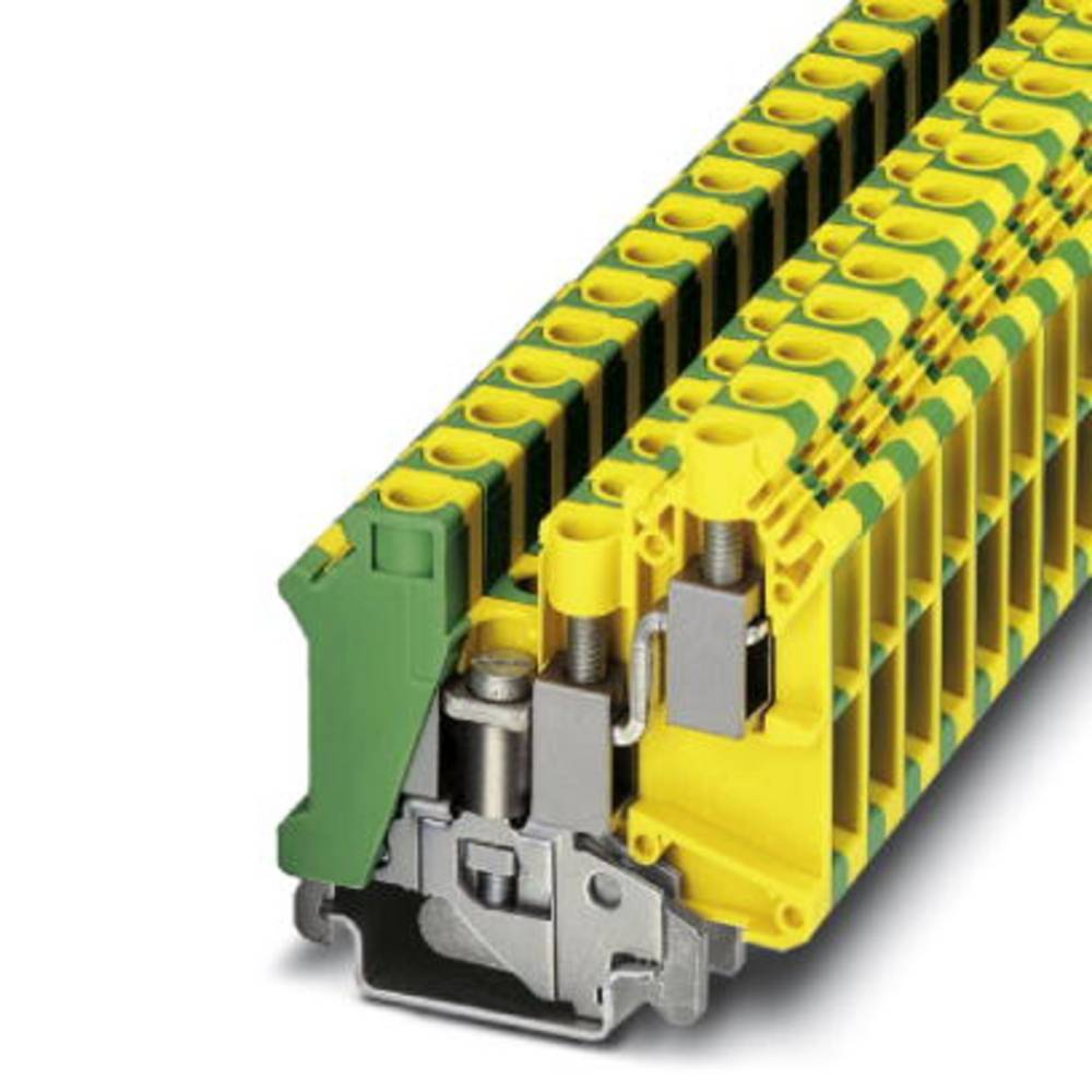 UK 10-TWIN-PE - gennem terminal Phoenix Contact UK 10-TWIN-PE Grøn-gul 50 stk