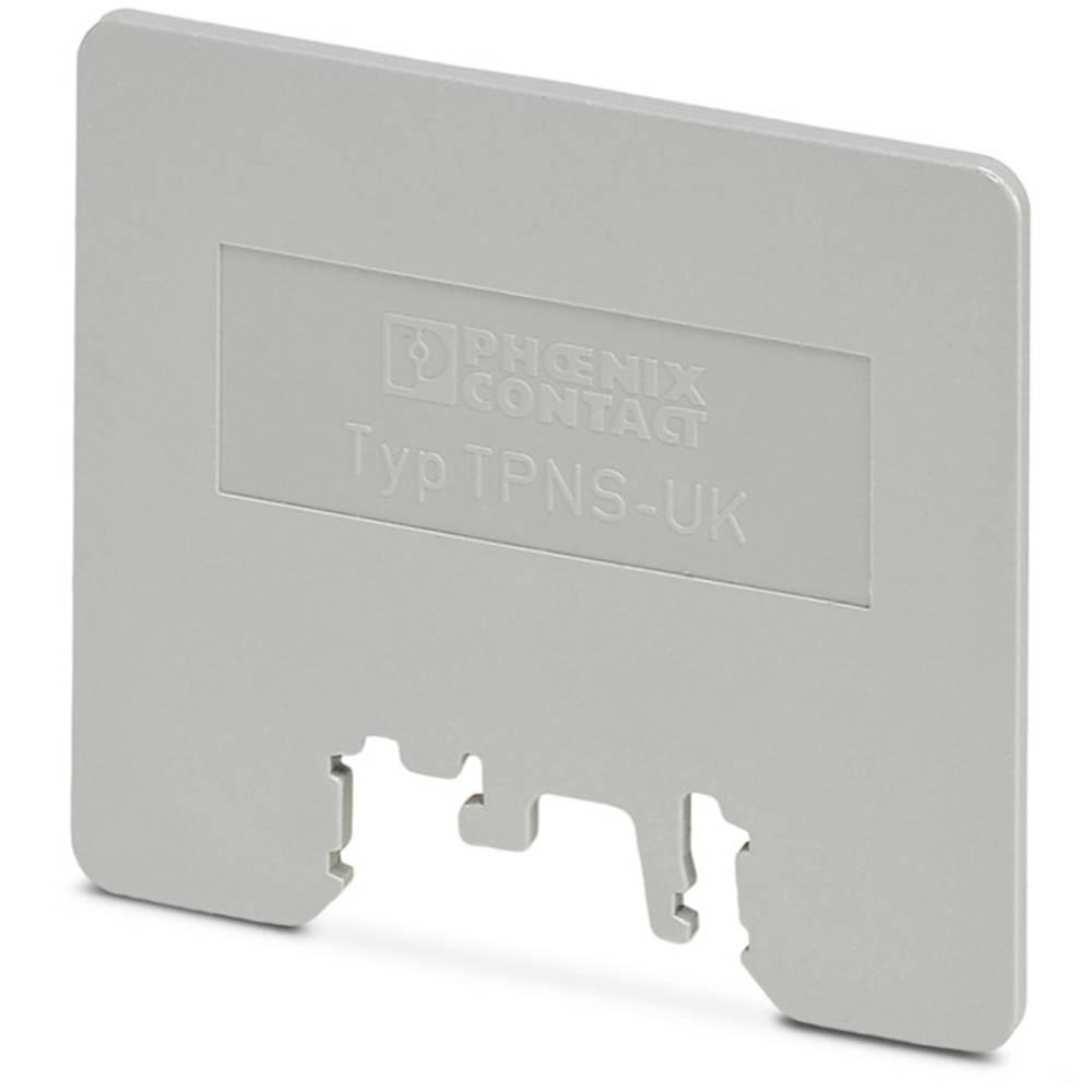 TPNS-UK - adskillelse plade TPNS-UK Phoenix Contact Indhold: 50 stk
