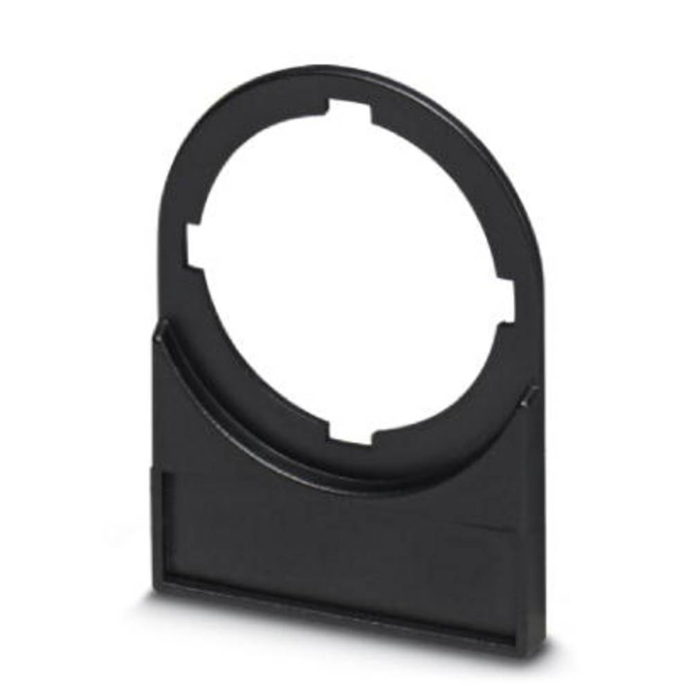 Nosilec oznak, montaža: pripenjanje, površina: 27 x 8 mm primeren za serijo gumbi in stikala 22 mm črne barve Phoenix Contact CA