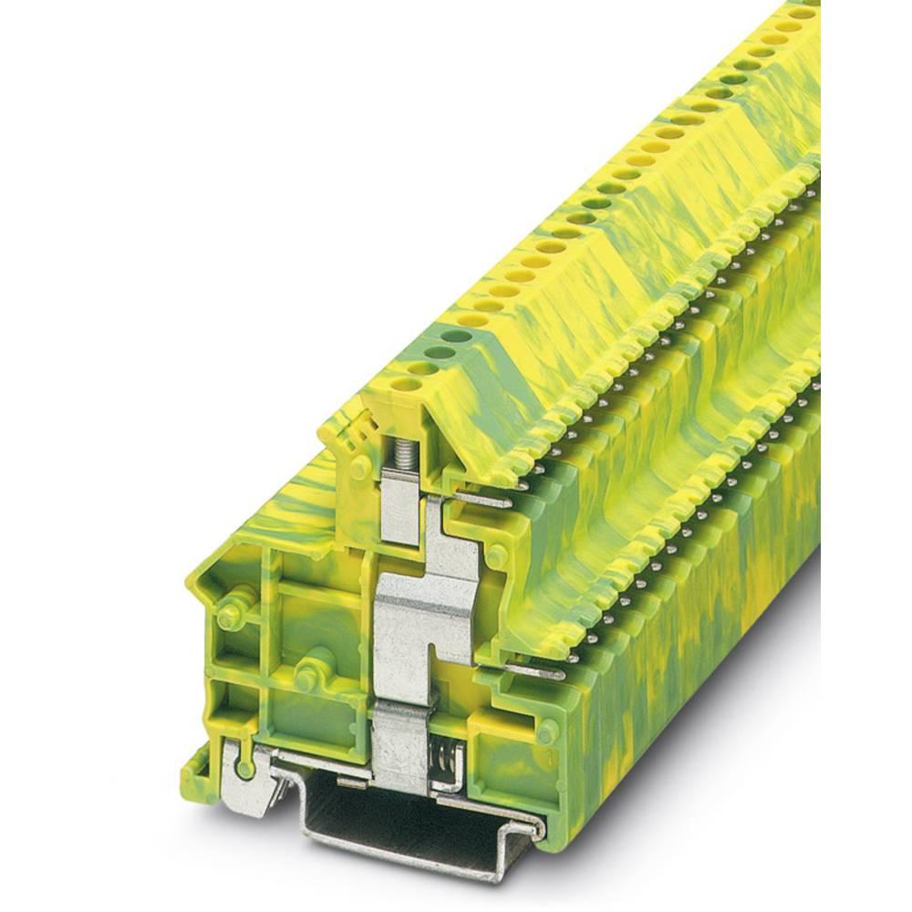 UKK 3-MSTB-5,08-PE - gennem terminal Phoenix Contact UKK 3-MSTB-5,08-PE Grøn-gul 50 stk
