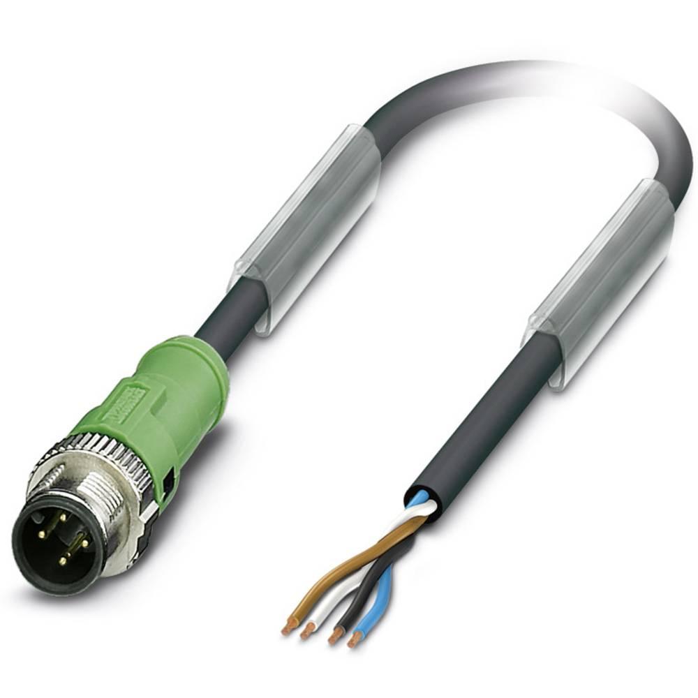 Sensor-, aktuator-stik, M12 Stik, lige 3 m Pol-tal (RJ): 4 Phoenix Contact 1518818 SAC-4P-MS/ 3,0-PUR SCO 1 stk