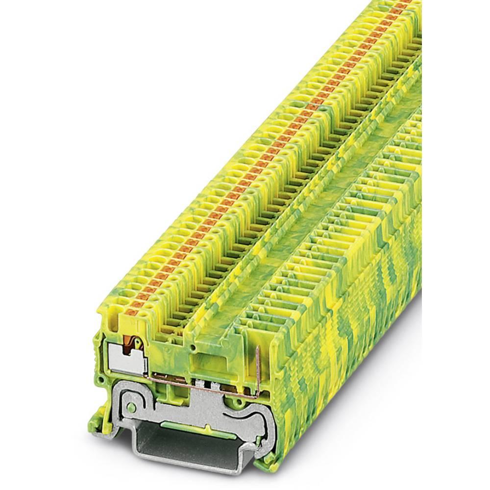 Ground modular terminal block PT 1,5/S/1P-PE Phoenix Contact PT 1,5/S/1P-PE Grøn-gul 50 stk