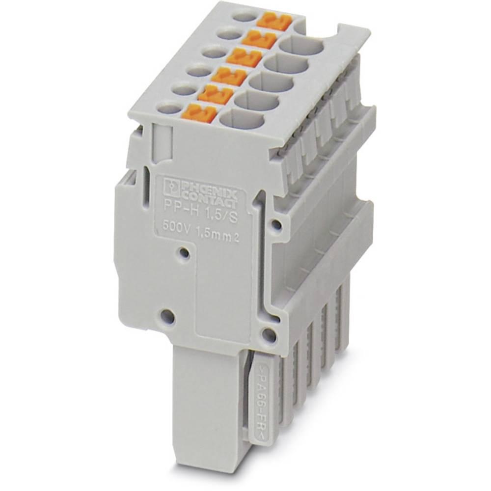 Plug PP-H 1,5/S/7 Phoenix Contact PP-H 1,5/S/7 Grå 25 stk
