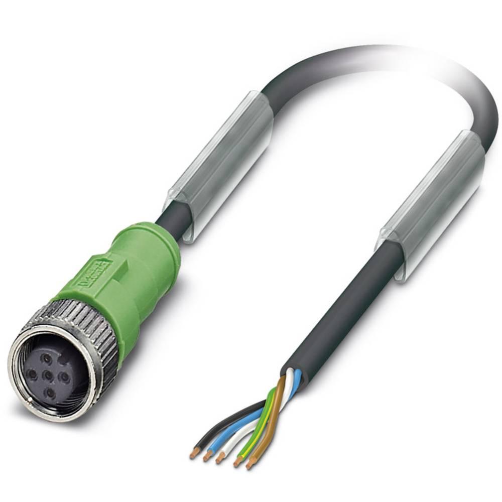 Sensor-, aktuator-stik, M12 Tilslutning, lige 8 m Pol-tal (RJ): 5 Phoenix Contact 1502358 SAC-5P-M12FS/ 8,0-PUR/M12FS VW 1 stk