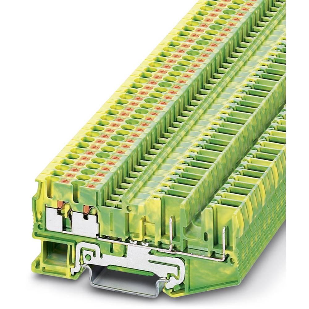 PT 2,5-QUATTRO / 2P-PE - beskyttelsesleder klemrække Phoenix Contact PT 2,5-QUATTRO/2P-PE Grøn-gul 50 stk
