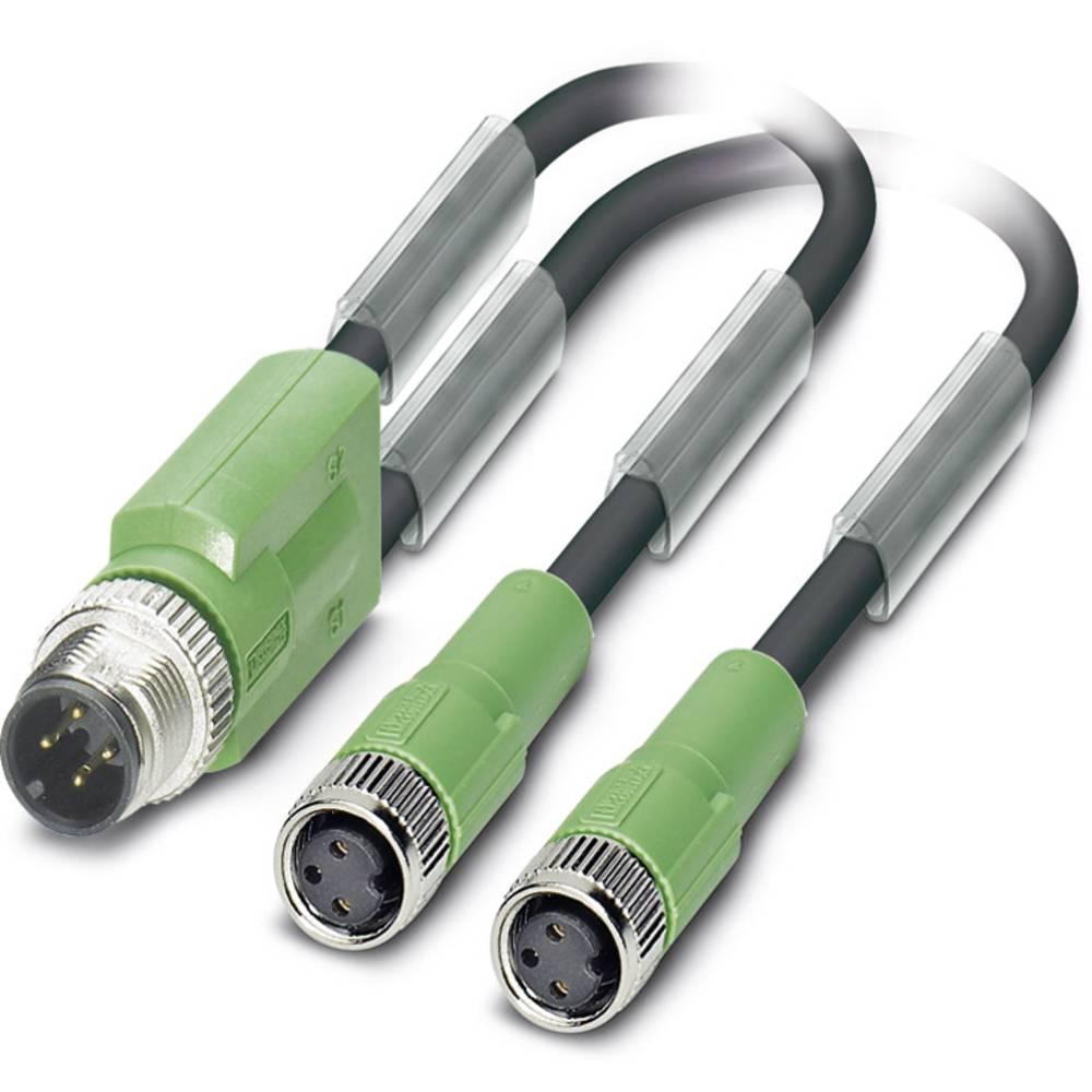 Sensor-, aktuator-stik, Phoenix Contact SAC-3P-M12Y/2X3,0-PUR/M 8FS 1 stk