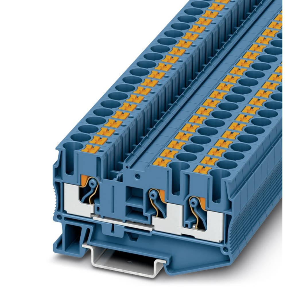 Feed-through terminal block PT 6-TWIN BU Phoenix Contact PT 6-TWIN BU Grå 50 stk