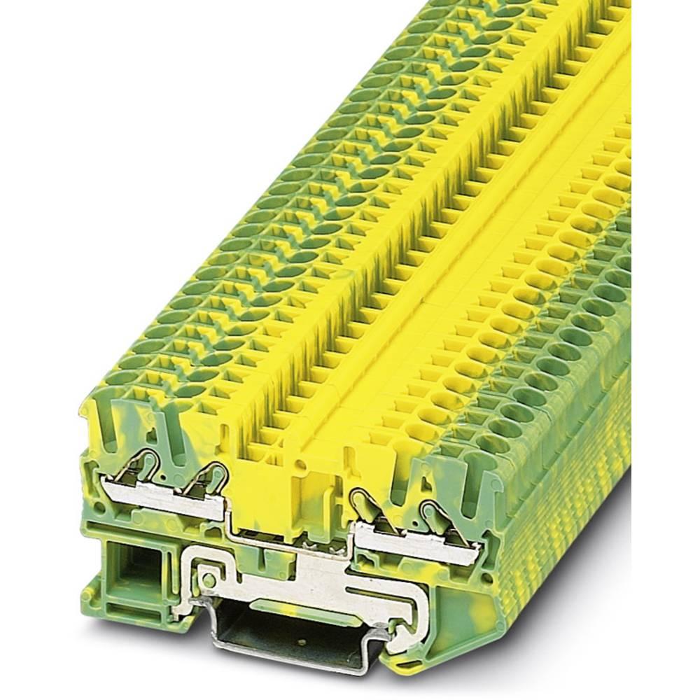 DT 2.5-QUATTRO-PE - gennem terminal Phoenix Contact DT 2,5-QUATTRO-PE Grøn-gul 50 stk