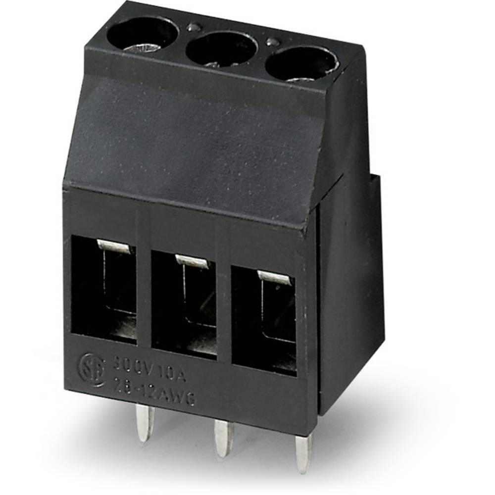 Skrueklemmeblok Phoenix Contact MKDS 3/ 3 HT BK 2.50 mm² Poltal 3 Sort 50 stk