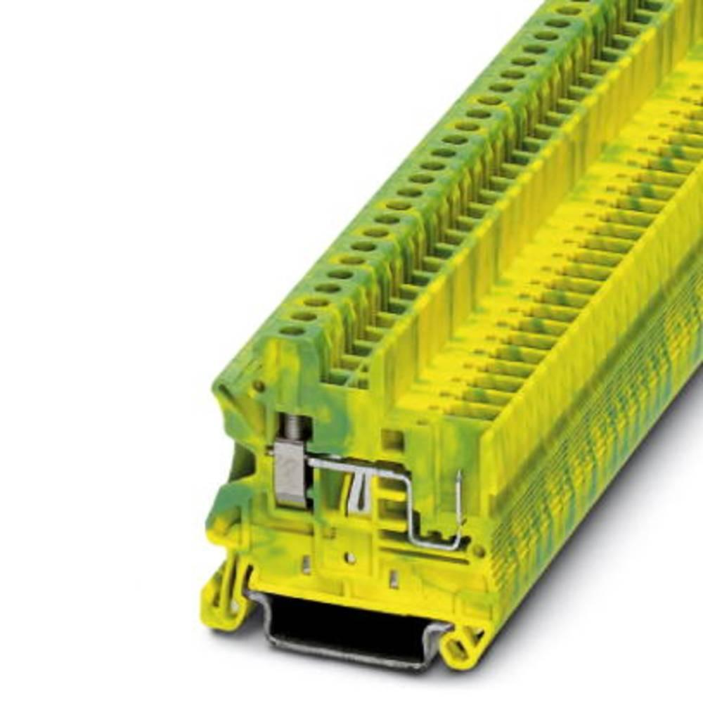 UT 2,5 / 1P-PE - beskyttelsesleder klemrække Phoenix Contact UT 2,5/1P-PE Grøn-gul 50 stk