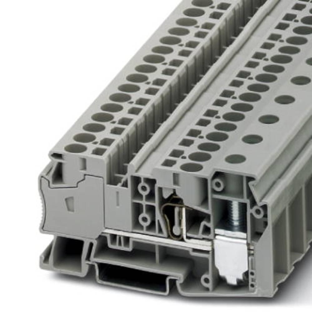STU 35 / 4x10 - gennem terminal Phoenix Contact STU 35/ 4X10 Grå 25 stk