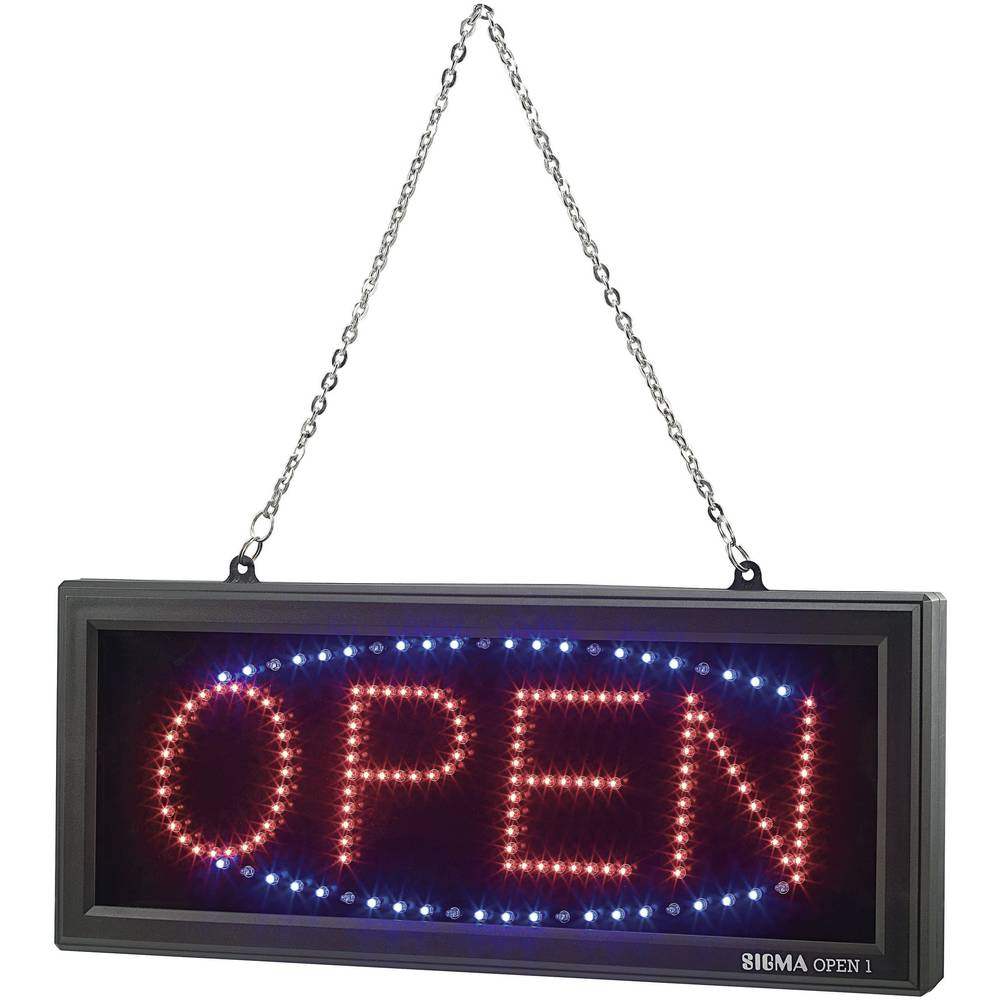 LED opozorilna tabla z napisom'Open'
