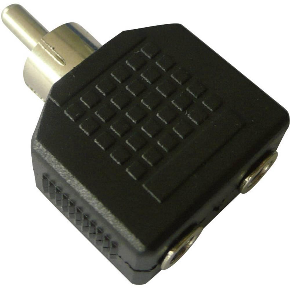 SpeaKa Professional-Činč/JACK audio adapter [1x činč, moški/2x JACK, ženski, 3.5mm], črn