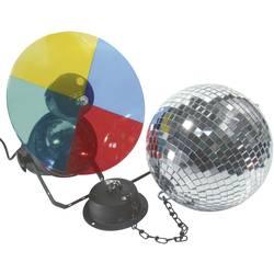 Zrcalna disko krogla 200 mm zmotorjem in barvnim žarometom