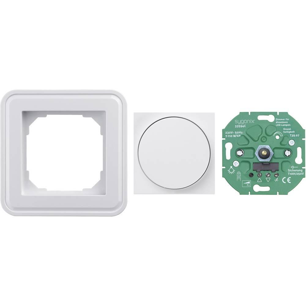sygonix ugradni dio prigušivač svjetla SX.11 sygonix bijela, sjajna 30892X