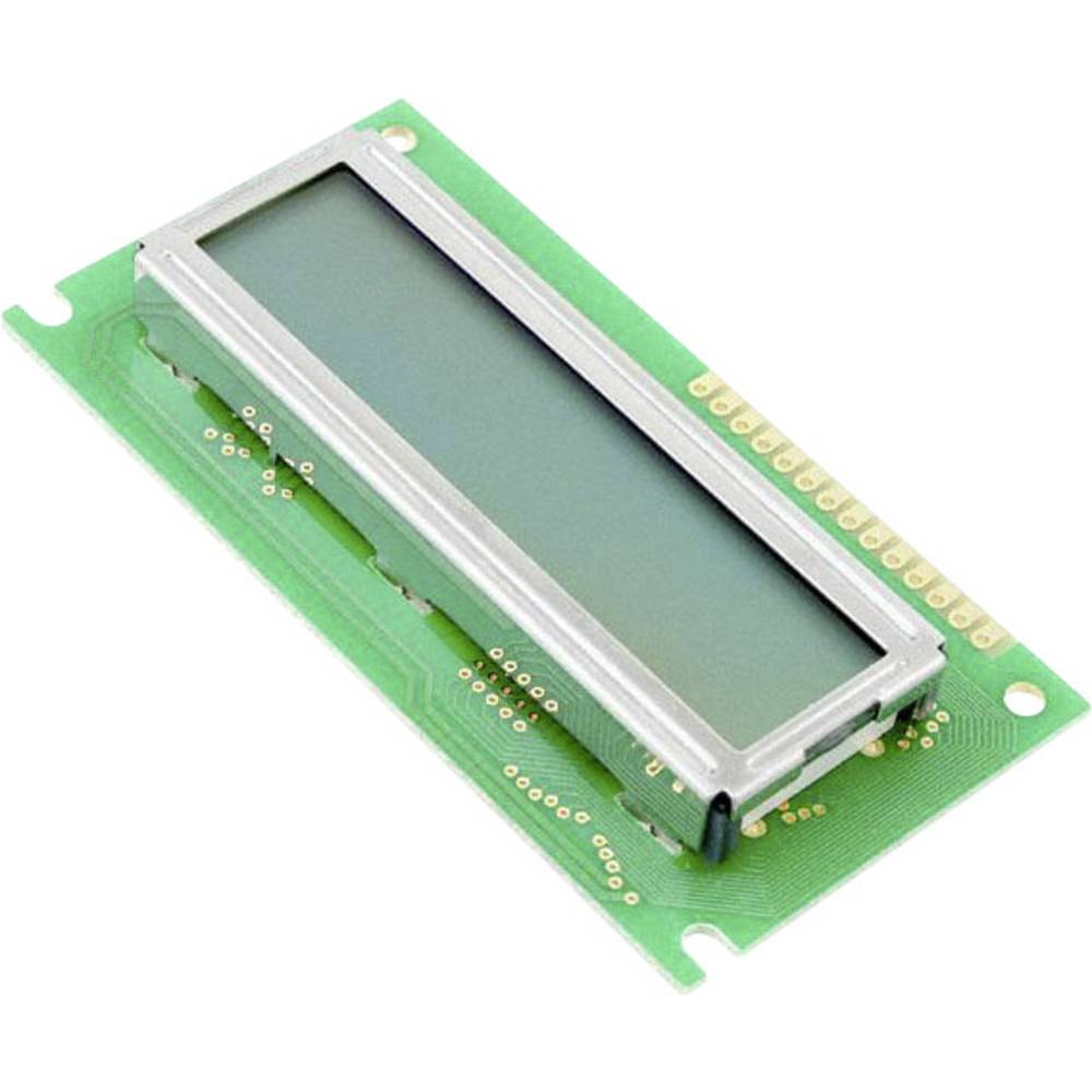LC-Display (value.1317399) LUMEX LCM-S01602DSF/B (B x H x T) 36 x 12.7 x 80 mm Grøn