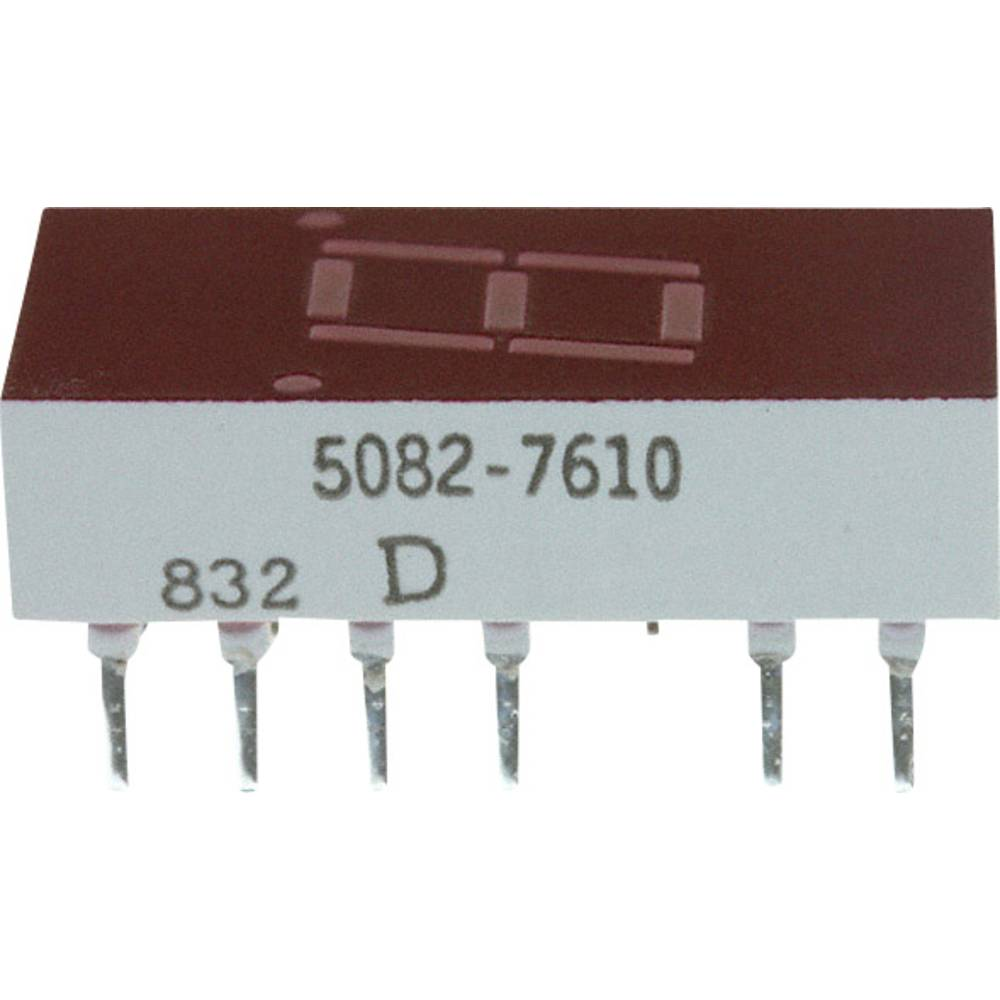 7-segmentsvisning Broadcom 7.62 mm 2.1 V Rød