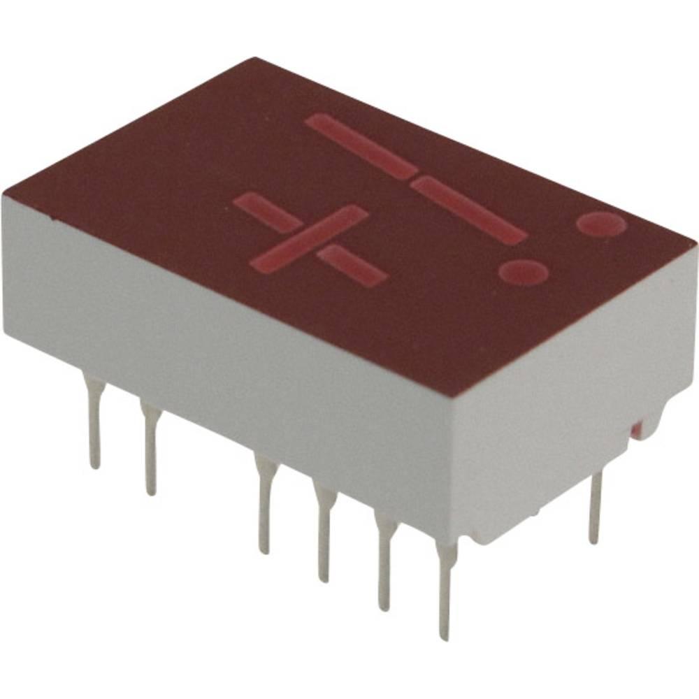 7-Segment-Anzeige (value.1317366) Broadcom 11 mm 2.1 V Rød