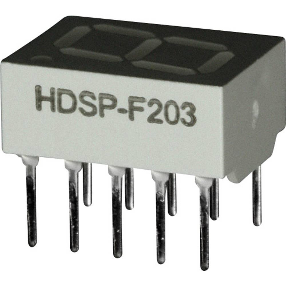 7-segmentsvisning Broadcom 10.16 mm 2 V Rød