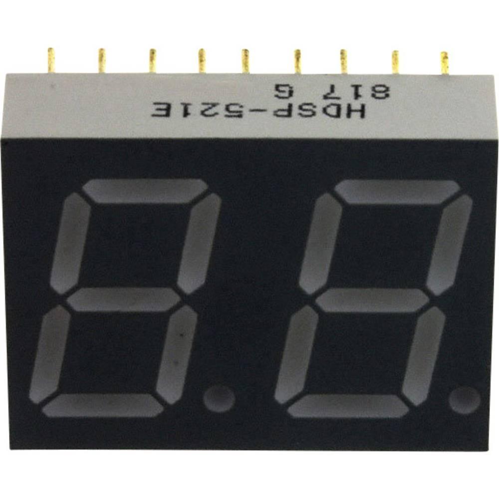 7-segmentsvisning Broadcom 14.22 mm 2.05 V Rød
