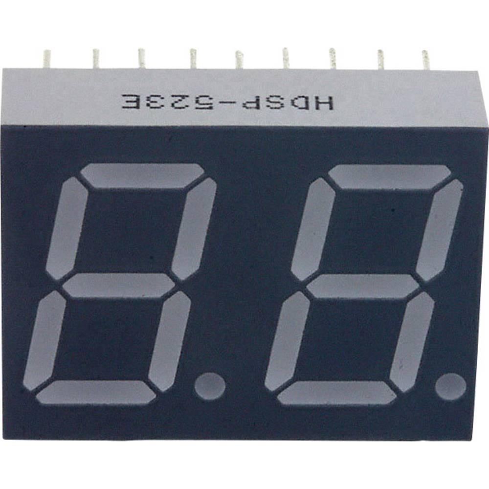 7-Segment-Anzeige (value.1317366) Broadcom 14.22 mm 2.05 V Rød