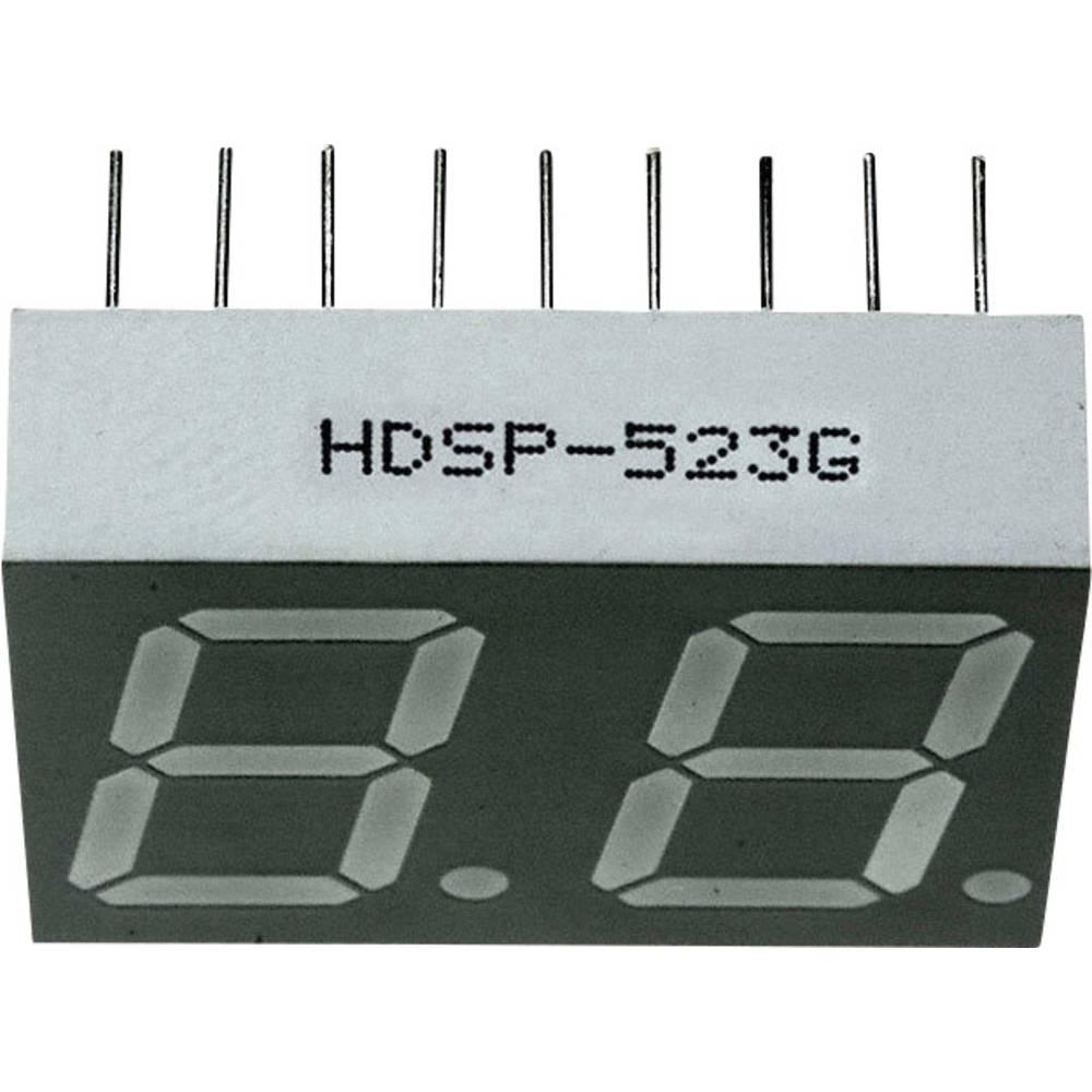 7-Segment-Anzeige (value.1317366) Broadcom 14.22 mm 2 V Grøn