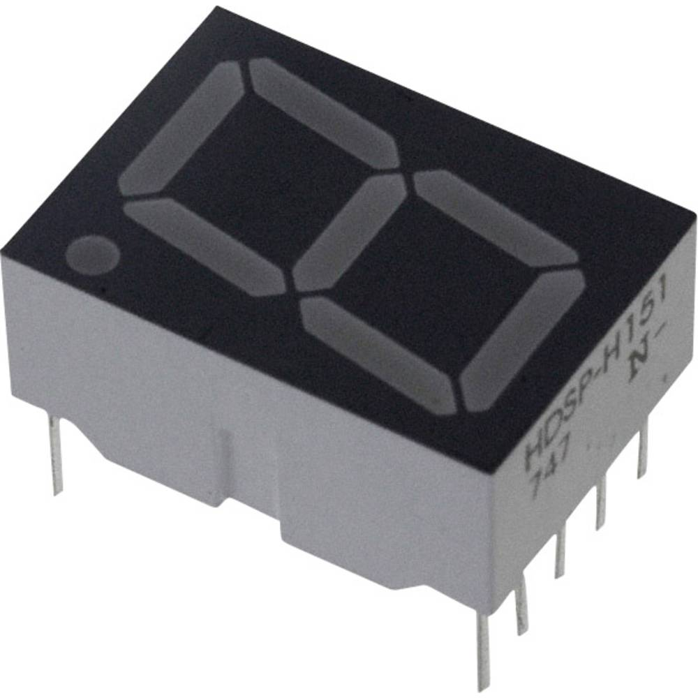 7-Segment-Anzeige (value.1317366) Broadcom 14.22 mm 1.8 V Rød