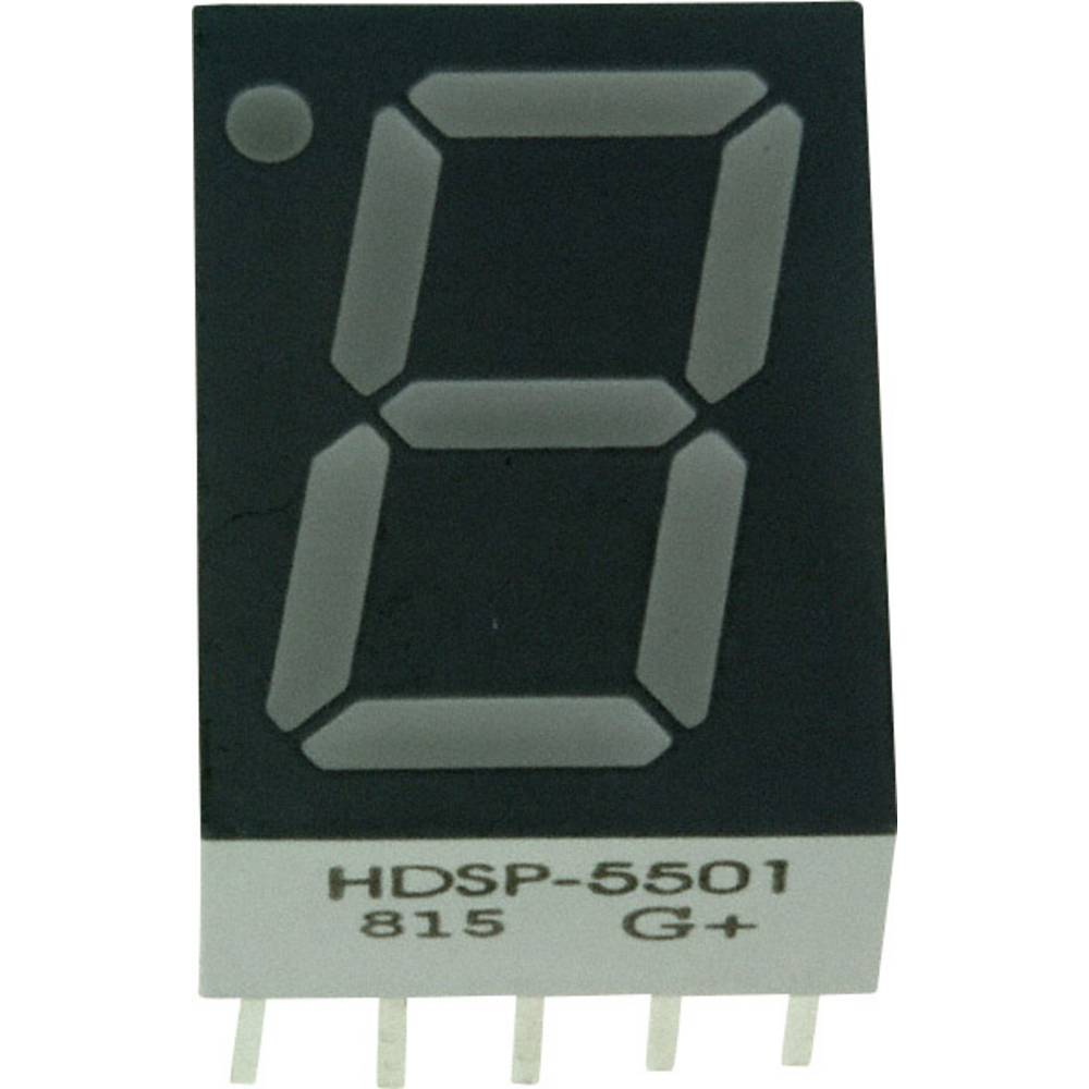 7-Segment-Anzeige (value.1317366) Broadcom 14.22 mm 2.1 V Rød