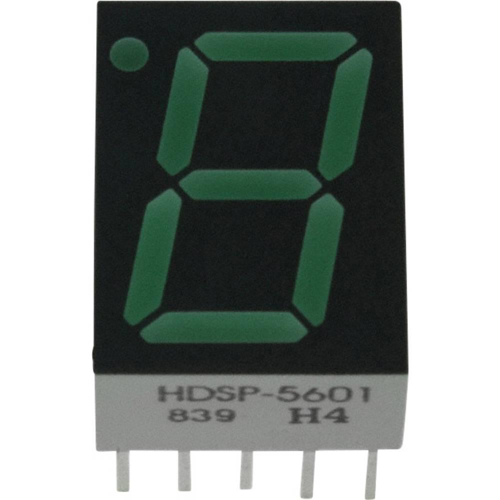 7-segmentsvisning Broadcom 14.22 mm 2.1 V Grøn