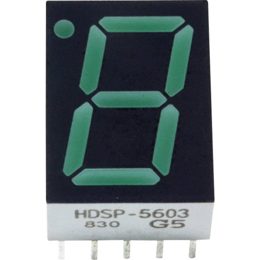 7-Segment-Anzeige (value.1317366) Broadcom 14.22 mm 2.1 V Grøn