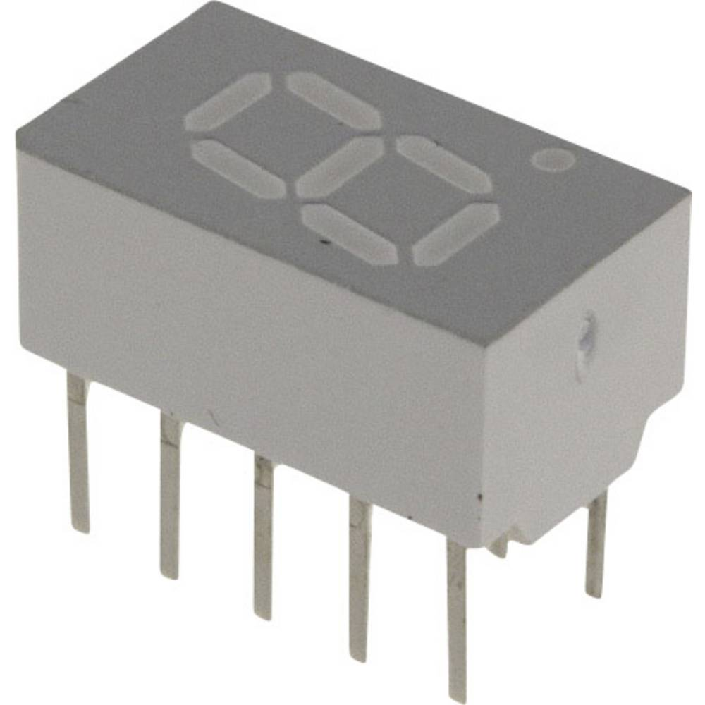 7-Segment-Anzeige (value.1317366) Broadcom 7.62 mm 1.7 V Rød