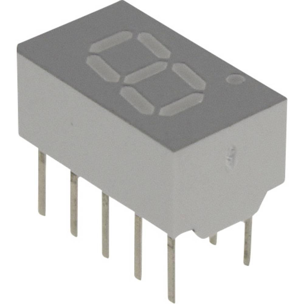 7-Segment-Anzeige (value.1317366) Broadcom 7.62 mm 1.7 V Rød