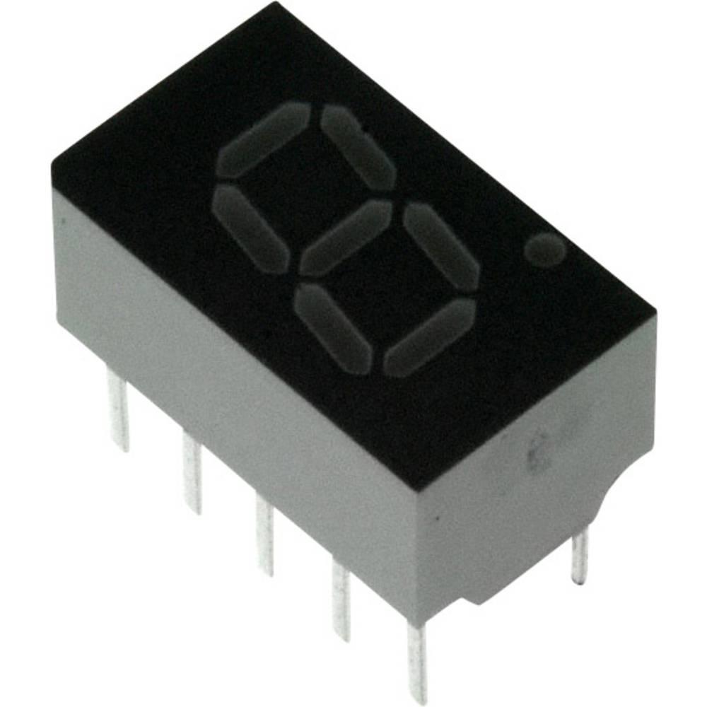 7-Segment-Anzeige (value.1317366) Broadcom 7.62 mm 2 V Rød