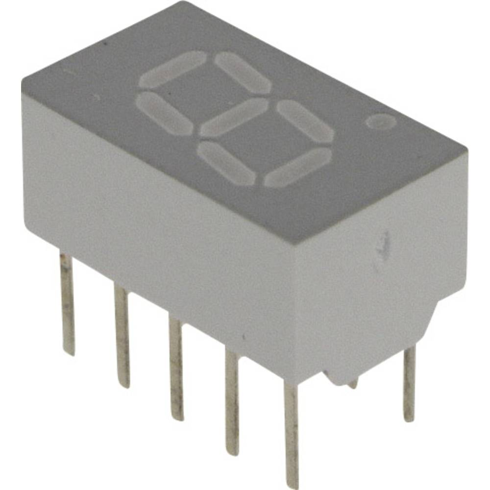 7-Segment-Anzeige (value.1317366) Broadcom 7.62 mm 2.2 V Gul