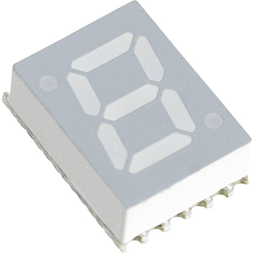 7-Segment-Anzeige (value.1317366) Broadcom 7.11 mm 3.3 V Blå
