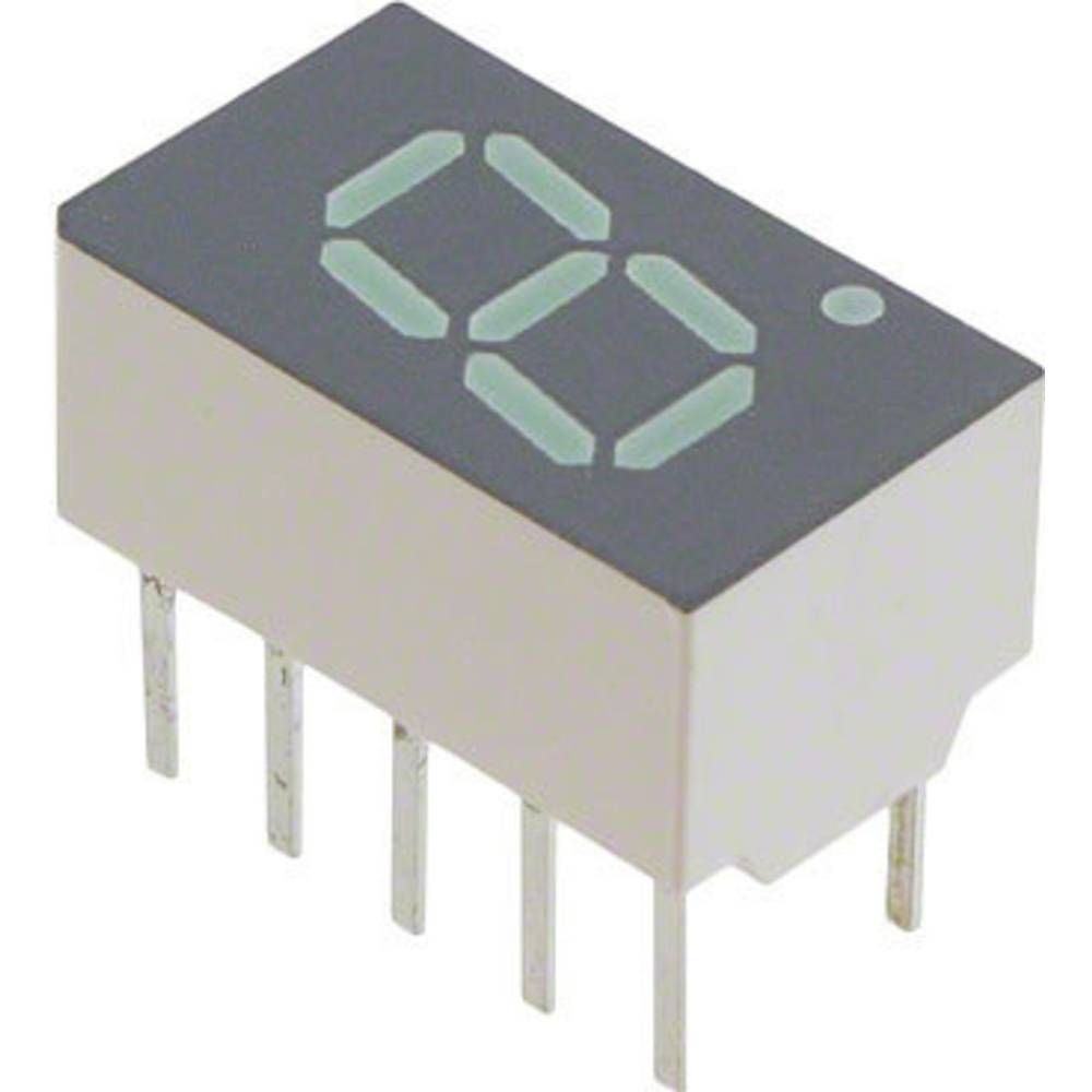 7-Segment-Anzeige (value.1317366) Broadcom 7.62 mm 2.1 V Grøn