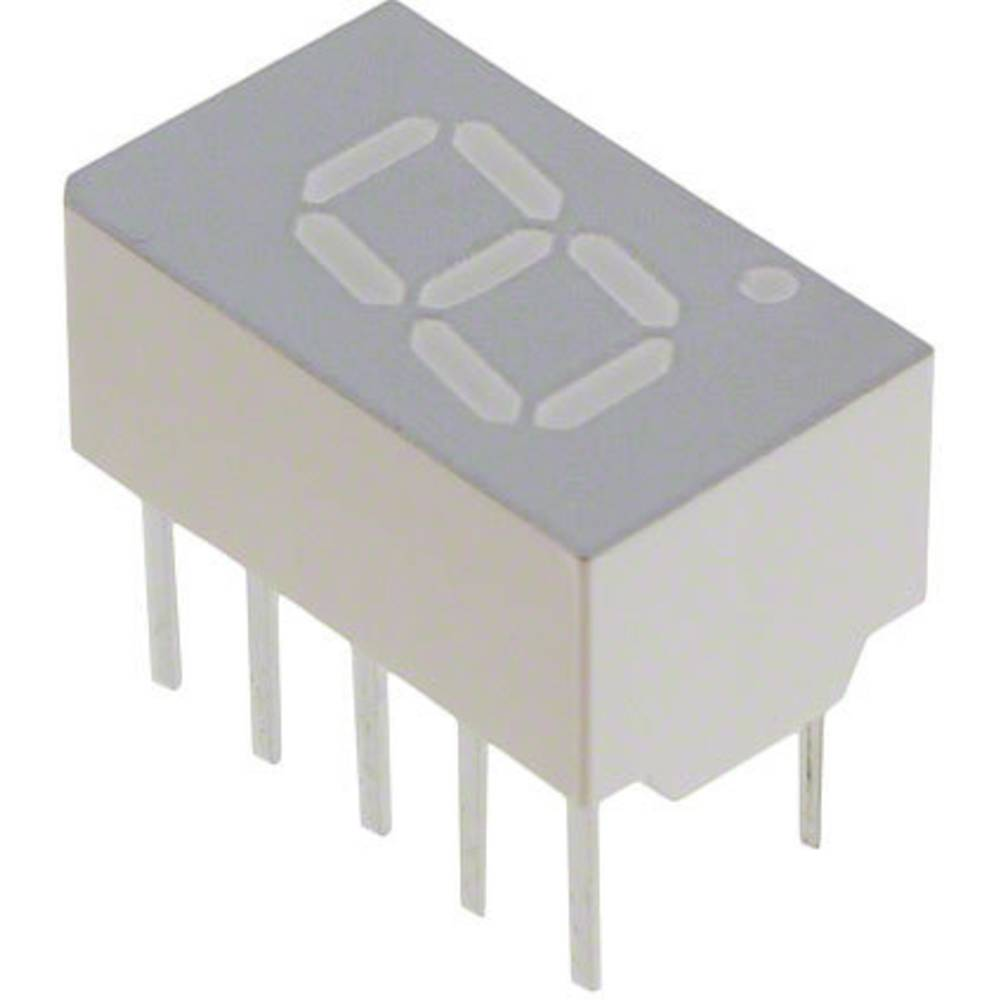 7-Segment-Anzeige (value.1317366) Broadcom 7.62 mm 1.8 V Rød