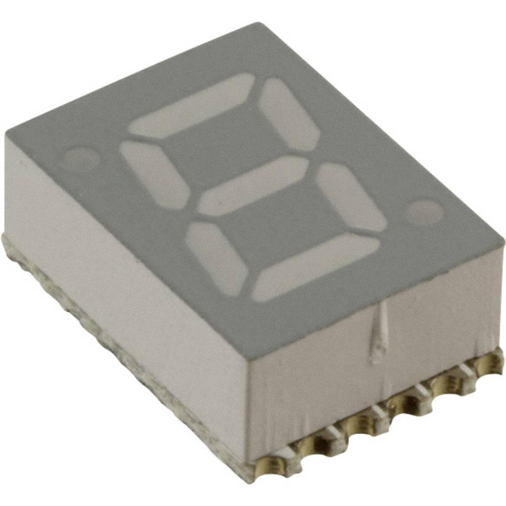 7-Segment-Anzeige (value.1317366) Broadcom 7.11 mm 2 V Rød