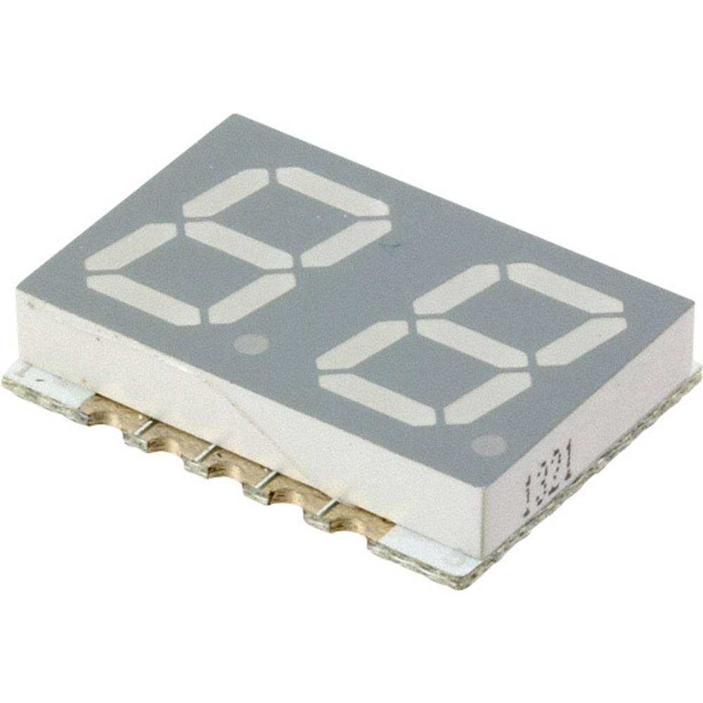 7-Segment-Anzeige (value.1317366) Broadcom 10 mm 2 V Rød